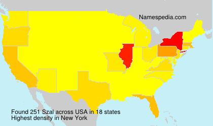 Familiennamen Szal - USA