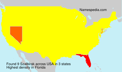 Surname Szalbirak in USA