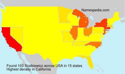 Surname Szalkiewicz in USA