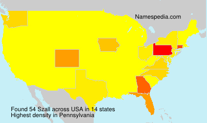 Surname Szall in USA