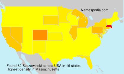Familiennamen Szczawinski - USA