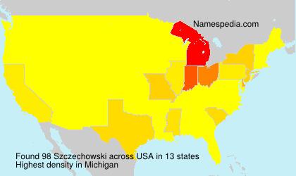 Surname Szczechowski in USA