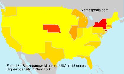 Familiennamen Szczepanowski - USA