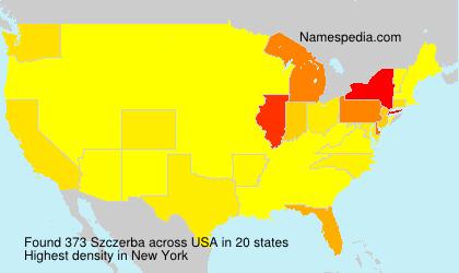 Surname Szczerba in USA