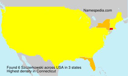 Surname Szczerkowski in USA