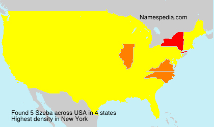 Surname Szeba in USA
