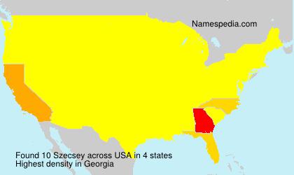 Surname Szecsey in USA