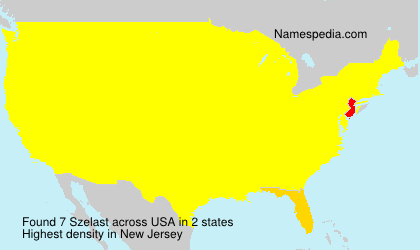 Surname Szelast in USA
