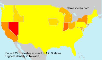 Surname Szelestey in USA