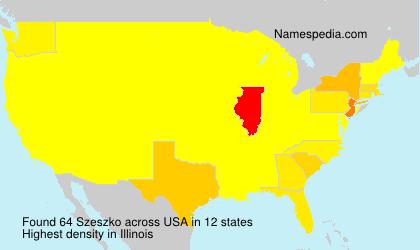 Surname Szeszko in USA