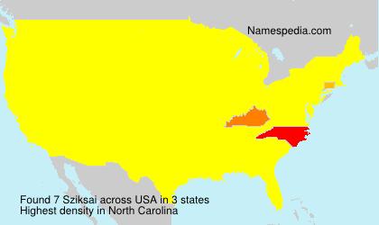 Surname Sziksai in USA