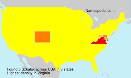 Surname Szkalak in USA