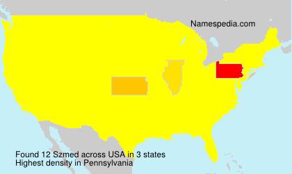 Familiennamen Szmed - USA