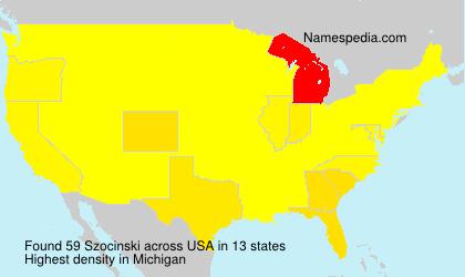 Familiennamen Szocinski - USA