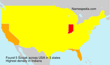 Surname Szojak in USA