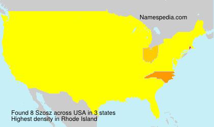 Surname Szosz in USA
