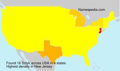 Surname Sztyk in USA