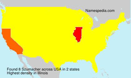 Familiennamen Szumacher - USA