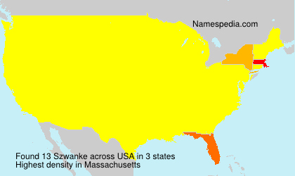 Familiennamen Szwanke - USA