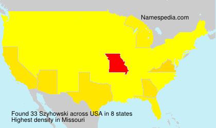 Familiennamen Szyhowski - USA