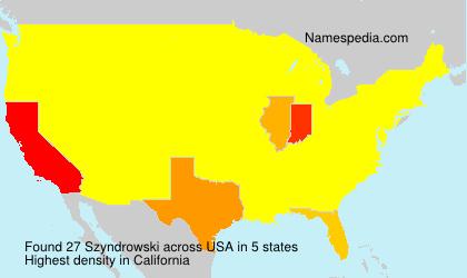 Familiennamen Szyndrowski - USA