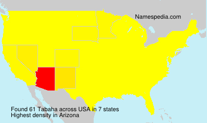 Familiennamen Tabaha - USA