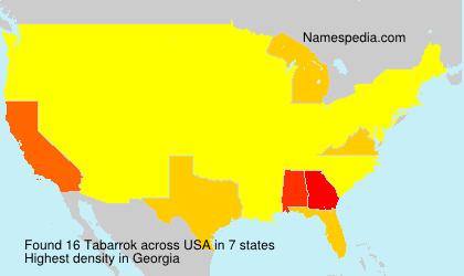 Familiennamen Tabarrok - USA