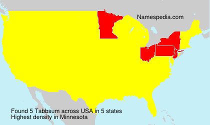 Surname Tabbsum in USA