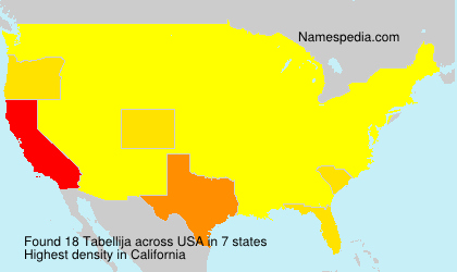 Familiennamen Tabellija - USA