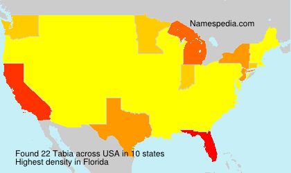 Surname Tabia in USA
