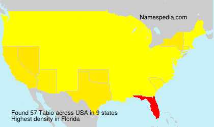 Surname Tabio in USA