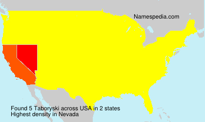 Surname Taboryski in USA