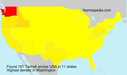Surname Tachell in USA