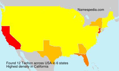 Familiennamen Tachon - USA