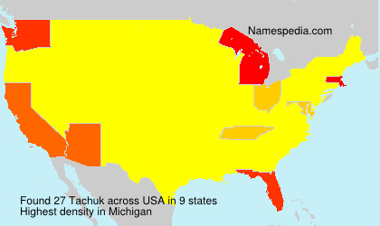 Surname Tachuk in USA