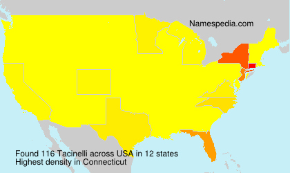 Surname Tacinelli in USA