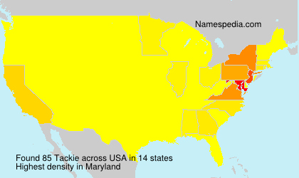 Surname Tackie in USA