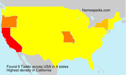 Surname Taddo in USA