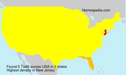 Familiennamen Tadili - USA
