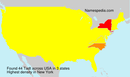 Surname Tadt in USA