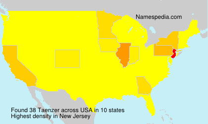 Surname Taenzer in USA