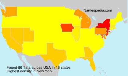 Surname Tafa in USA