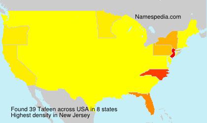 Surname Tafeen in USA