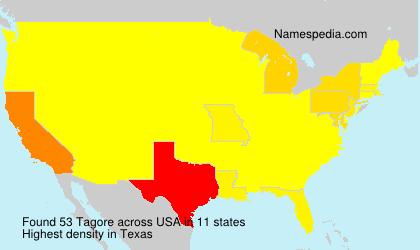 Familiennamen Tagore - USA