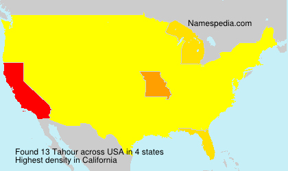 Surname Tahour in USA