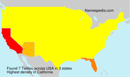 Surname Taillieu in USA