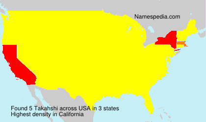 Surname Takahshi in USA