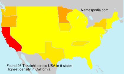 Surname Takaichi in USA