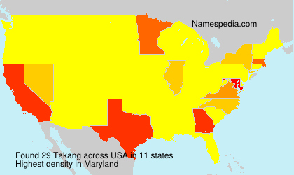 Surname Takang in USA
