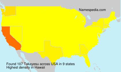 Surname Takayesu in USA